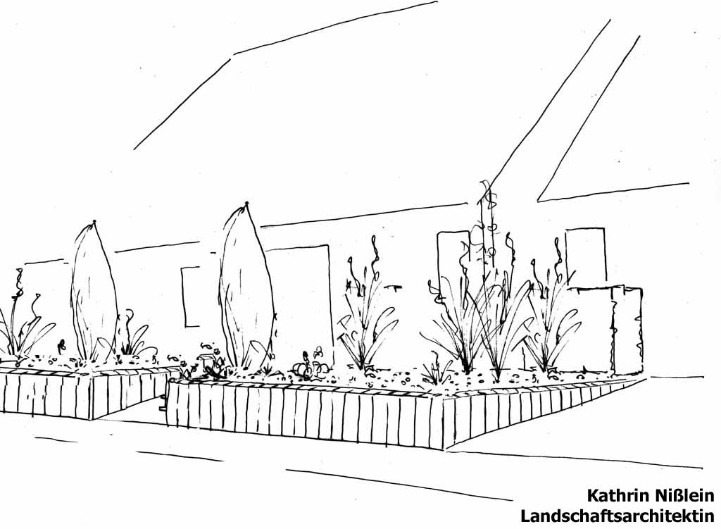 landschaftsarchitektin kathrin nißlein - referenzen - vorgarten in, Garten Ideen